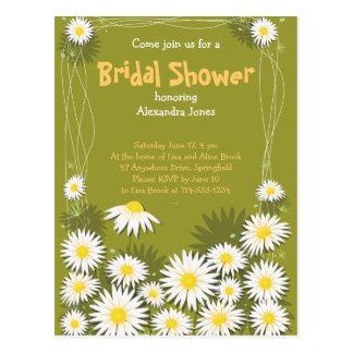 Invitación nupcial del fiesta de ducha del jardín
