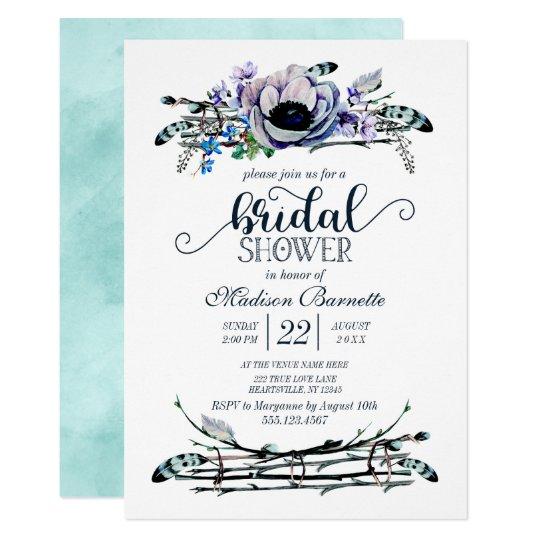 Invitación nupcial elegante de la ducha de la