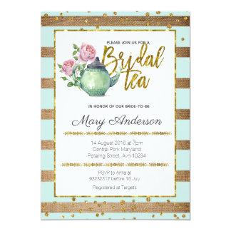 Invitación nupcial elegante de la fiesta del té de