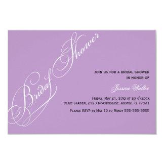 Invitación nupcial elegante de la violeta de la invitación 8,9 x 12,7 cm
