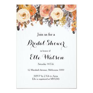 Invitación nupcial elegante floral de la ducha de