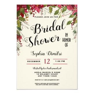 Invitación nupcial floral de la ducha del día de