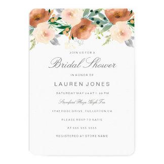 Invitación nupcial floral de la ducha del flor del