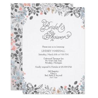 Invitación nupcial floral de la ducha del país