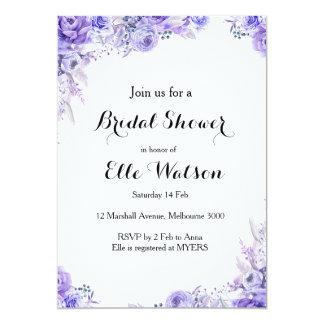 Invitación nupcial floral elegante de la ducha