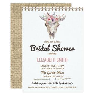 Invitación nupcial floral elegante de la ducha de