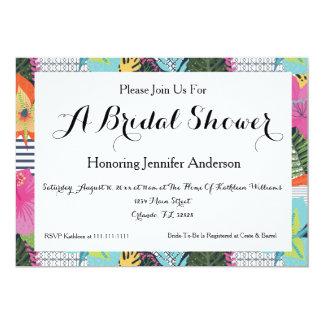 Invitación nupcial floral moderna tropical de la