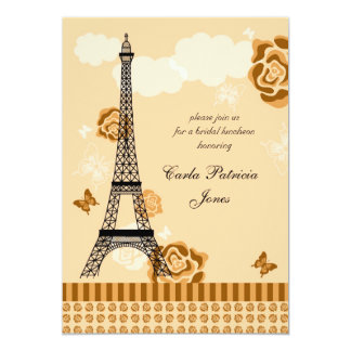 Invitación nupcial francesa de la ducha de la