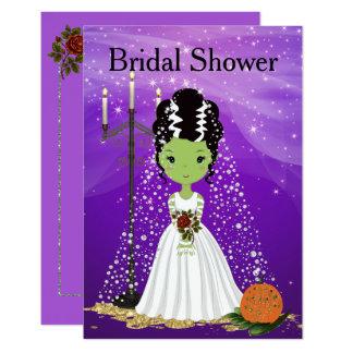 Invitación nupcial Frankenstein de la ducha de