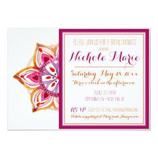 Invitación nupcial Fuschia de la ducha de la flor