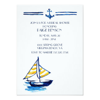 Invitación nupcial náutica de la ducha