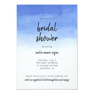 Invitación nupcial Ombre azul Boho moderno de la