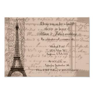 Invitación nupcial parisiense de la ducha de la