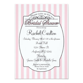 Invitación nupcial rosada de la ducha de París