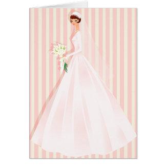Invitación nupcial rosada de la ducha tarjeta de felicitación