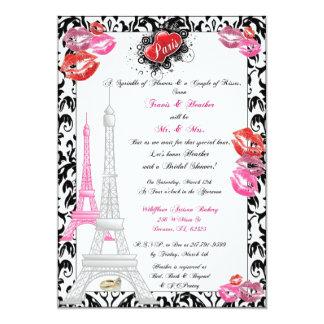 Invitación nupcial temática de París