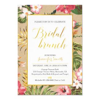 Invitación nupcial tropical del brunch de Kraft