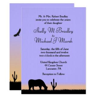Invitación occidental crepuscular del boda