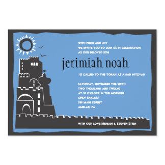 Invitación occidental de Mitzvah del palo de la