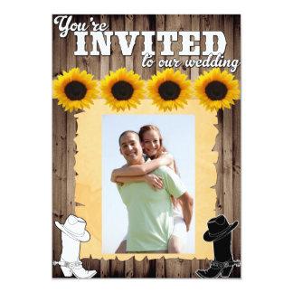 Invitación occidental del boda del país