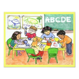 INVITACIÓN OCUPADA DE LOS NIÑOS DE LA EDUCACIÓN DE