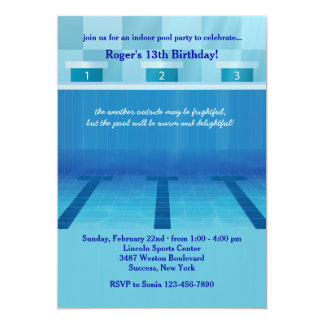 Invitación olímpica de la fiesta en la piscina invitación 12,7 x 17,8 cm