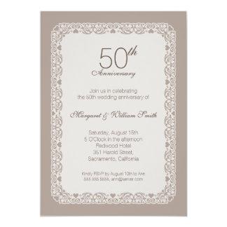 Invitación ornamental elegante del aniversario de