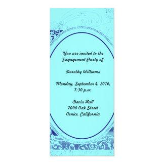 Invitación ostentosa del fiesta de compromiso