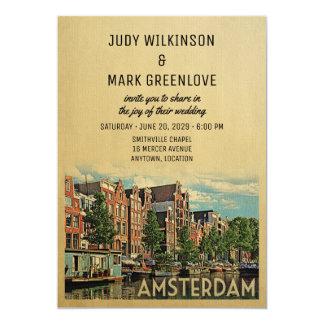Invitación Países Bajos Holanda del boda de