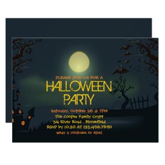 Invitación pálida del fiesta de Halloween de la