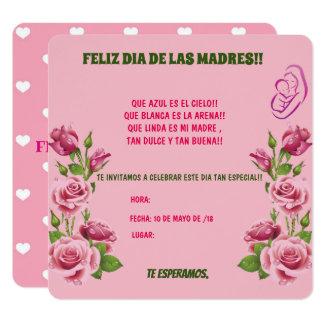 INVITACION PARA EL DIA DE LAS MADRES.