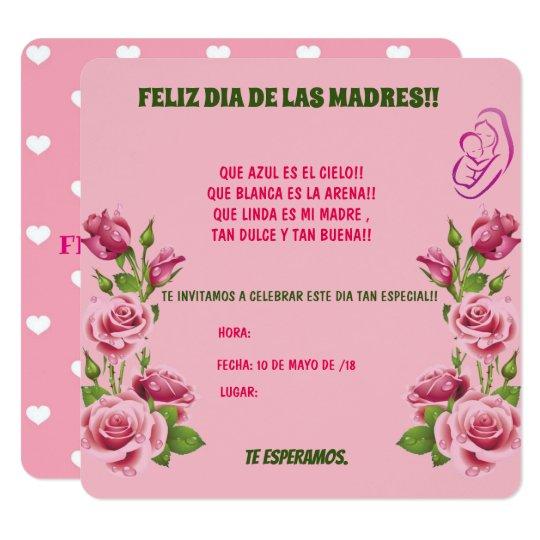 Invitacion Para El Dia De Las Madres