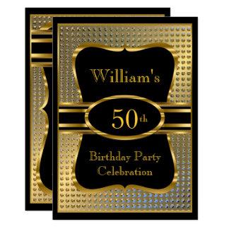 Tarjeta Invitación para hombre de la fiesta de cumpleaños
