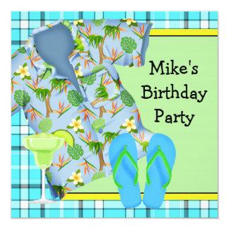 Invitación para hombre de la fiesta de cumpleaños