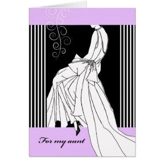 Invitación para que tía sea criada del honor, tarjeta de felicitación