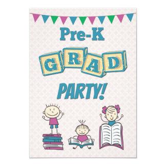 Invitación para una fiesta de graduación de Pre-K