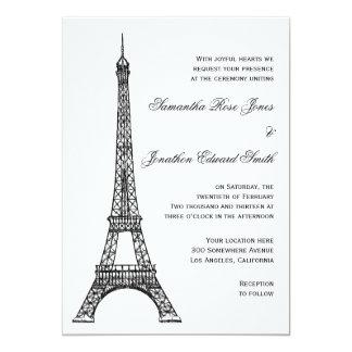 Invitación parisiense del boda de la torre Eiffel
