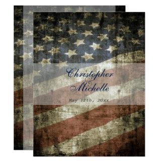 Invitación patriótica del boda del vintage de la