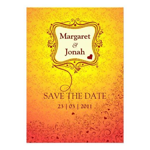Invitación perfecta de la tarjeta del día de San V