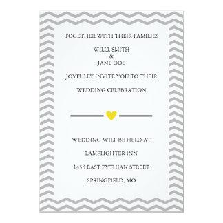 Invitación perfecta del boda de la tipografía del invitación 12,7 x 17,8 cm