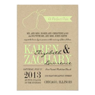 Invitación perfecta del boda de los pares
