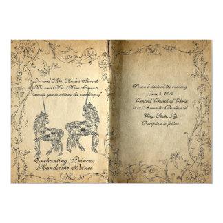 Invitación perfecta del boda del unicornio del