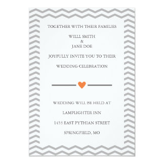 Invitación perfecta del boda del zigzag invitación 12,7 x 17,8 cm