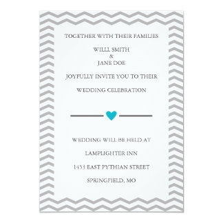 Invitación perfecta del boda del zigzag