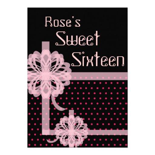 ¡Invitación perfecta del dulce dieciséis del regal