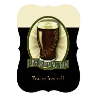 Invitación personalizada cerveza de malta invitación 12,7 x 17,8 cm