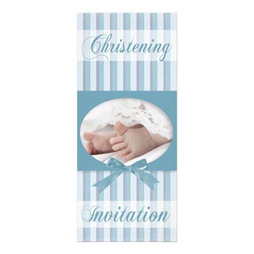 Invitación personalizada del bautizo para el bebé