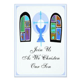 Invitación personalizada del hijo del bautizo invitación 12,7 x 17,8 cm