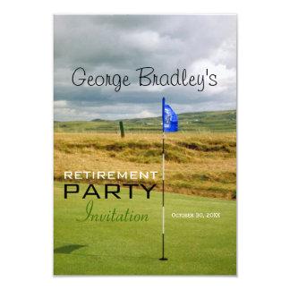 Invitación personalizada golf del fiesta de retiro