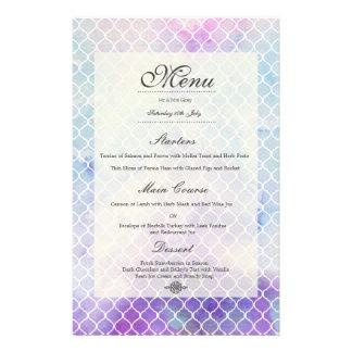 Invitación personalizada menú del boda de la